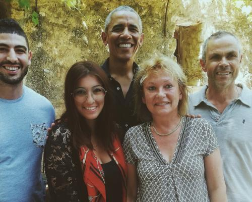 Le couple Obama s'invite au Château